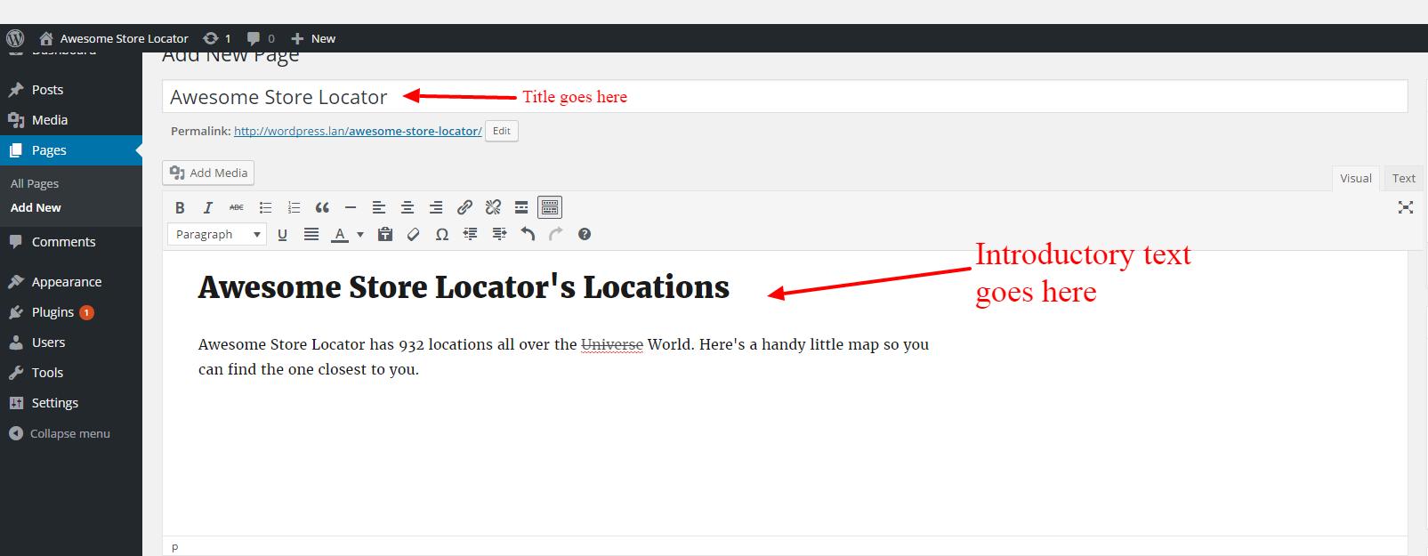 Store Locator Wordpress - Step 2