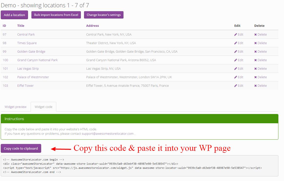 Store Locator Wordpress - Step 3