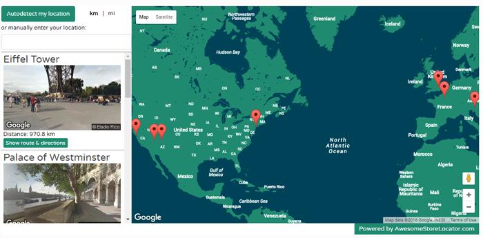 Store Locator Example