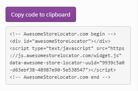 Store Locator - copy & paste a simple code snippet to include in your page